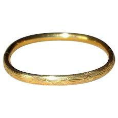 Gold Filled Baby Bangle Bracelet