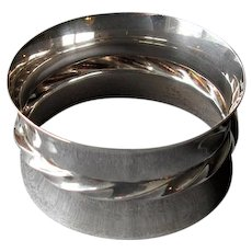 Sterling Silver Napkin Ring with Fluted Design