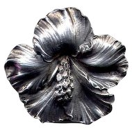 Cini Sterling Hibiscus Pin