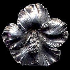Cini Sterling Hibiscus Pin