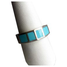 Native American Zuni Silver & Turquoise Ring