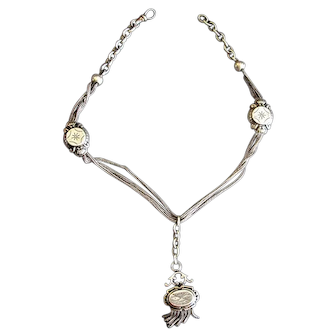 Victorian Sterling Necklace or Watch Chain