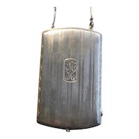 Sterling Silver Art Deco Reticule or Purse with Long Chain