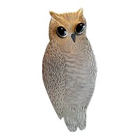 Hand-Wrought Sterling Owl Pendant