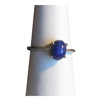"""10K White Gold Ring with """"Lindy"""" Star Sapphire"""