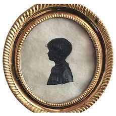 Rare  Empire/Regeny girls Miniature/Silouette, France, ca. 1810 or earlier