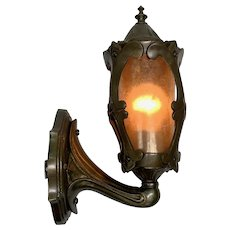 1920s Porch Sconce in Cast Bronze #2037