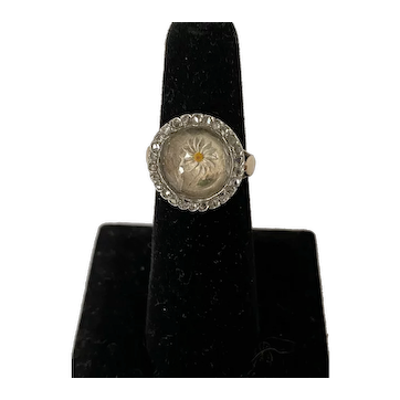 Victorian crystal and Diamond ring