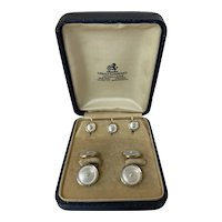 Art Deco Larter & Sons 14karat cufflinks and shirt studs