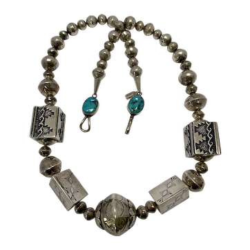 Tommy Singer Native American Sterling Silver Necklace