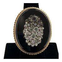Vintage Ring, 14 Karat Gold and Micro Mosaic