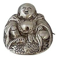.900 Silver Chinese Buddha Pin