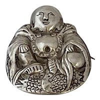 Silver .900 Buddha Pin