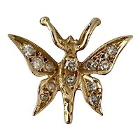 Diamond and 14k gold Butterfly