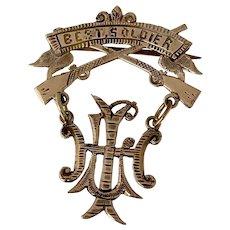 Civil War  10 k Gold Best Soldier pin