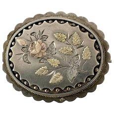 Victorian Sterling Silver Brooch/Pin
