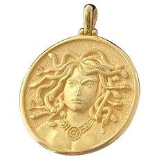 MEDUSA 14 karat Gold Medallion/Pendant
