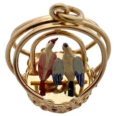 Henry Dankner 14 karat gold LOVE BIRDS Living Charm