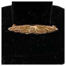Art Nouveau 14K Gold Pin
