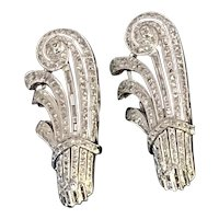 Platinum and Diamond Art Deco Brooches