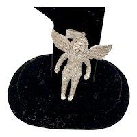 White Gold and Diamond Angel Pendant