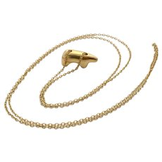 14 Karat Gold Golden Bear Mama Bear Necklace