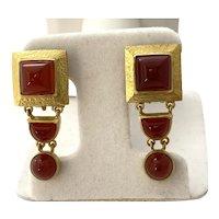 Elizabeth Locke 18K Gold Earrings