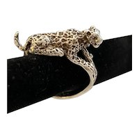 Leopard Sterling Silver Ring