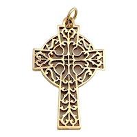 14 Karat Gold Fancy Cross