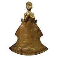 Art Nouveau Charles Korschann Gilt Bronze Louchet Foundry