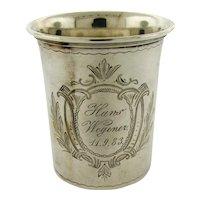 Antique 800 Continental Silver Beaker