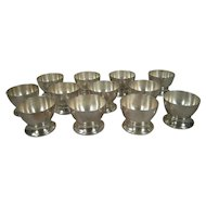 Set of Twelve William Spratling Sterling Silver Footed Wine Cups Original Box