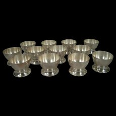 Set of Twelve William Spratling Sterling Silver Footed Wine Cups Original Box
