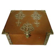 Rare Dirk Van Erp Hand Hammered Copper Two Color Arts and Crafts Smoke Box