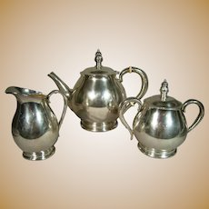 Royal Danish International Sterling Silver Three Piece Coffee/Tea Set 50oz