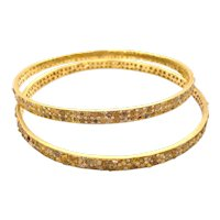 Designer Signed Pair Of Fancy Color Raw 7.85 Carat Diamonds 18K Gold Bangles