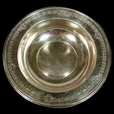 Large Dominick & Haff Sterling Silver Fruit Bowl Retailed By Shreve & Co