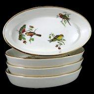 Vintage Pillivuyt Porcelain Oval Bakers, Set of 4 France, Pilivite