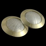 Vintage 14K Gold And Sterling Silver Ed Levin Earrings