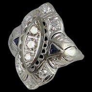 Antique Edwardian Platinum and Diamond Engagement Ring