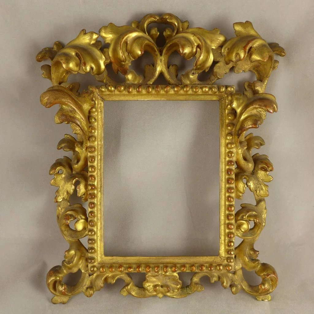Antique italian gilt carved wood rococo frame purrfect treasures antique italian gilt carved wood rococo frame click to expand jeuxipadfo Image collections