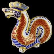 Vintage Royal Crown Derby Dragon Figurine / Paperweight