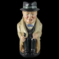 Vintage Royal Doulton Toby Jug - Winston Churchill 8360
