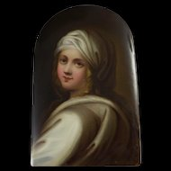 Antique HP Porcelain Portrait Of Beatrice Cenci