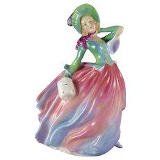 Vintage Royal Doulton Autumn Breezes Figurine HN1911, Lady In Pastels