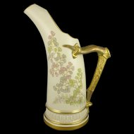 Royal Worcester Hand Painted Ewer, Antique Porcelain c. 1887