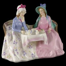 Royal Doulton Figurine, Afternoon Tea HN1747, Vintage c. 1935