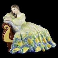 Vintage Royal Doulton Figurine, Solitude HN2810, Young Lady