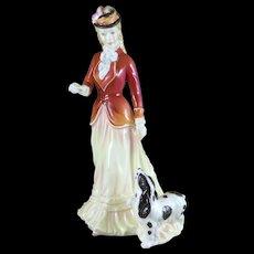 Vintage Royal Doulton Sarah Figurine, HN3384, Porcelain Lady With Dog