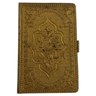 The Unique needle case, 19th century, Avery-style, fire gilt brass